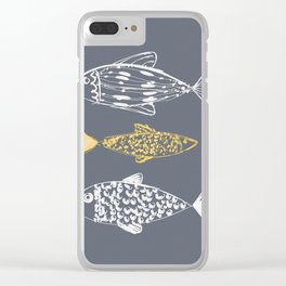 gold fish Clear iPhone Case