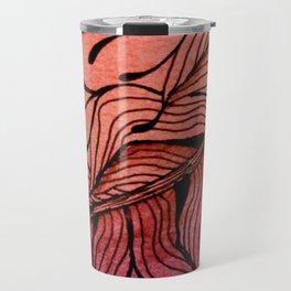 Doodled Autumn Feather 01 Travel Mug