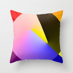 Expressionist Cubes II  Throw Pillow
