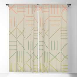 Geometric Shapes 11 Gradient Blackout Curtain