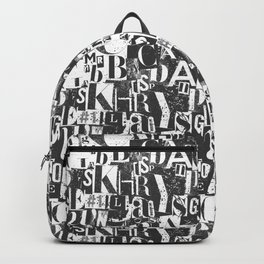 Ransom Note Effect Backpack