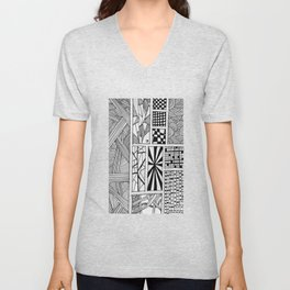 """Hand Drawn """"Boxed In"""" Unisex V-Neck"""