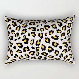 Leopard Print - Mustard Yellow Rectangular Pillow
