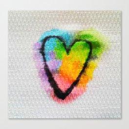 Heart on a Napkin Canvas Print