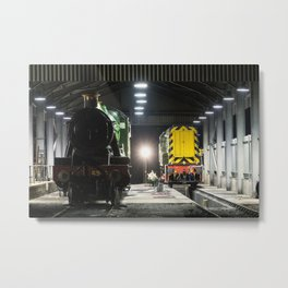 Lydeard Shed by Night Metal Print
