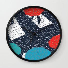 Tokyo umbrella time Wall Clock