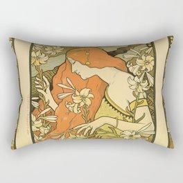 Art Deco Paris Rectangular Pillow