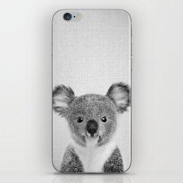 Baby Koala - Black & White iPhone Skin