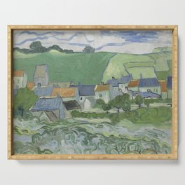 View of Auvers Serving Tray