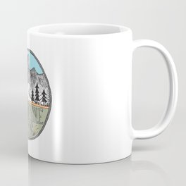 Jackson Hole circle illustration Coffee Mug