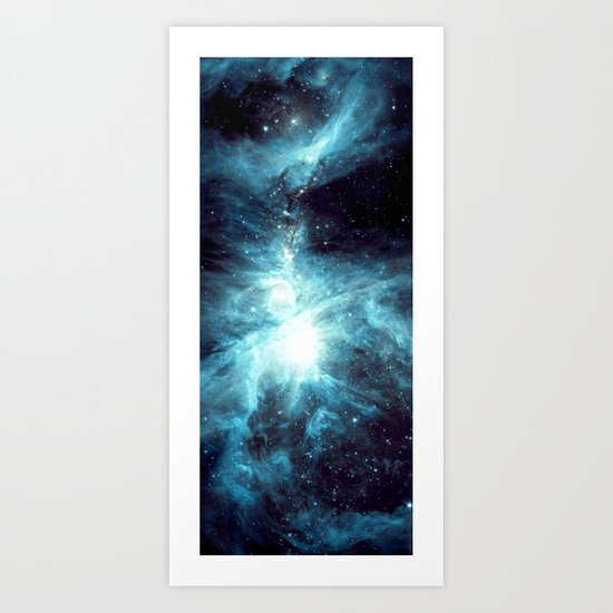 Orion Nebula Teal Art Print