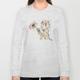 Gopher Colorful Watercolor Painting Long Sleeve T-shirt