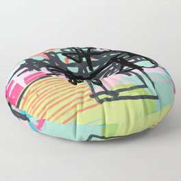 a little bit sour then sweet - abstract painting Floor Pillow
