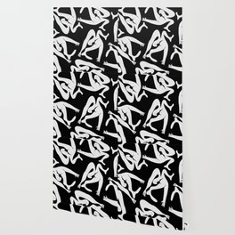 Picasso Pattern - Black and White Wallpaper