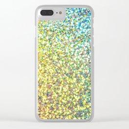 Glitter Rainbow Clear iPhone Case