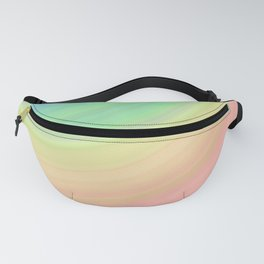 Abstract Pastel Rainbow I Cute abstract circles, gradient pattern Fanny Pack
