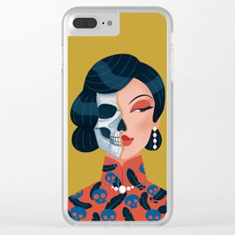 Chinese zombie woman Clear iPhone Case