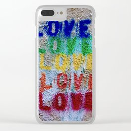 Seal of Love Clear iPhone Case