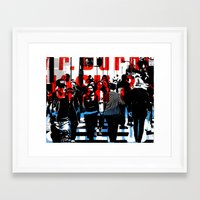 obey Framed Art Prints featuring Obey by Deanna Fainelli