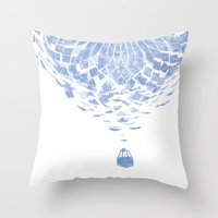 balloon Throw Pillows featuring Balloon  by Gurven