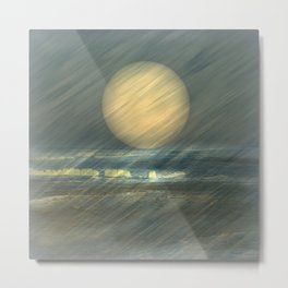 Sea and wind Metal Print