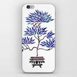 Bonsai Tree – Navy Palette iPhone Skin