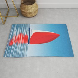 Sailing in the blue Rug