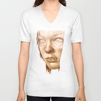 fifth element V-neck T-shirts featuring The Fifth Element by Doruktan Turan