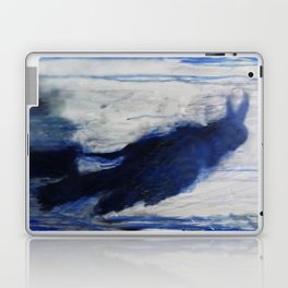 Contemporary Blue Raven Weather Abstract Painting  Laptop & iPad Skin