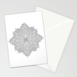 flower line art - white Stationery Cards