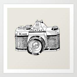 Pentax K1000 Art Print