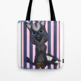 Funny Skunk With His Acorns Tote Bag