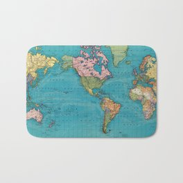 Vintage Map of The World (1897) Bath Mat