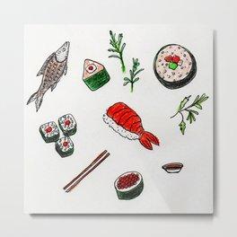 Scrumptious Sushi Metal Print