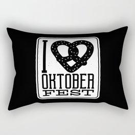 Oktoberfest Love Pretzel Rectangular Pillow