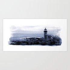 Lighthouse, Marshall Point, Maine Art Print