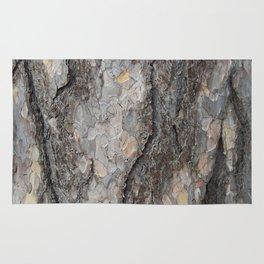 pine tree bark - scale pattern Rug