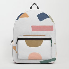 Mix of color shapes happy artwork Backpack