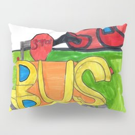 Bus at School Pillow Sham