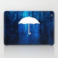 umbrella iPad Cases featuring umbrella by Darthdaloon