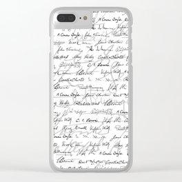 Literary Giants Pattern II Clear iPhone Case