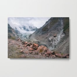 Extraordinary view from Robert's Point Track at Franz Josef Glacier Metal Print