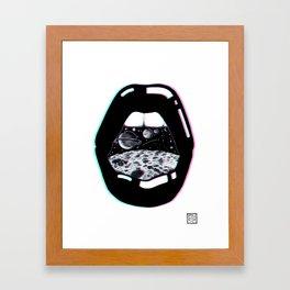 Space Lips Framed Art Print