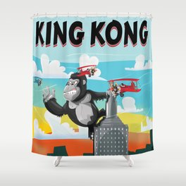 King Kong Poster Shower Curtain