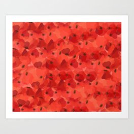 FIELD OF POPPIES Art Print