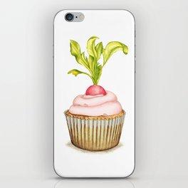Radish cupcake iPhone Skin