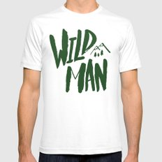 Wild Man x Green SMALL White Mens Fitted Tee