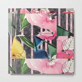 Floral Clash Metal Print