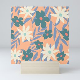Just Peachy Floral Mini Art Print