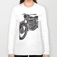 motorcycle Long Sleeve T-shirts featuring Motorcycle by Gemma Bullen Design
